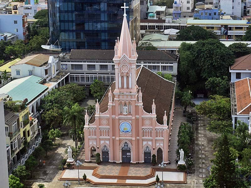 the pink church da nang