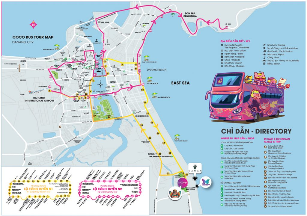 double decker bus da nang map route