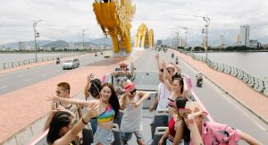 double decker bus city tour da nang